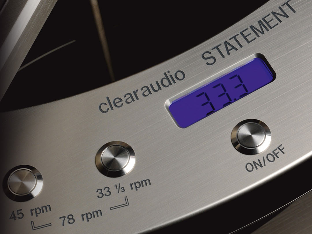 Clearaudio Statement turntable speed