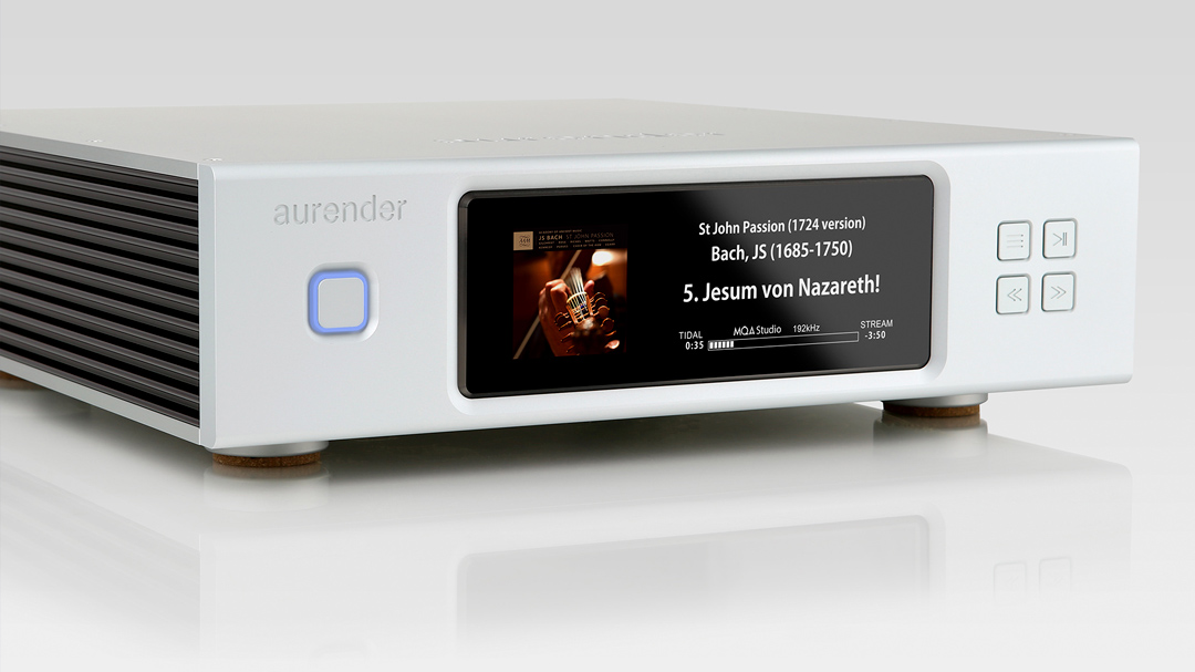 Aurender N200 music server streamer 16-9 in silver