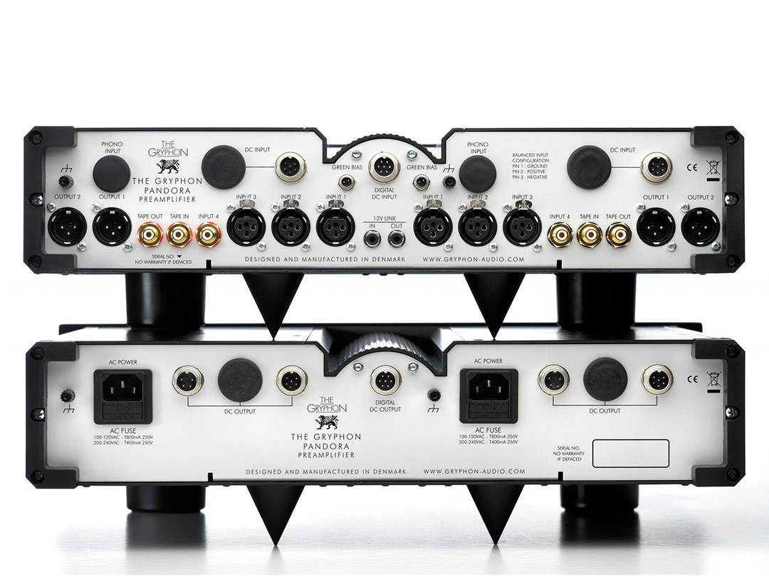 the gryphon pandora audio preamplifier back view