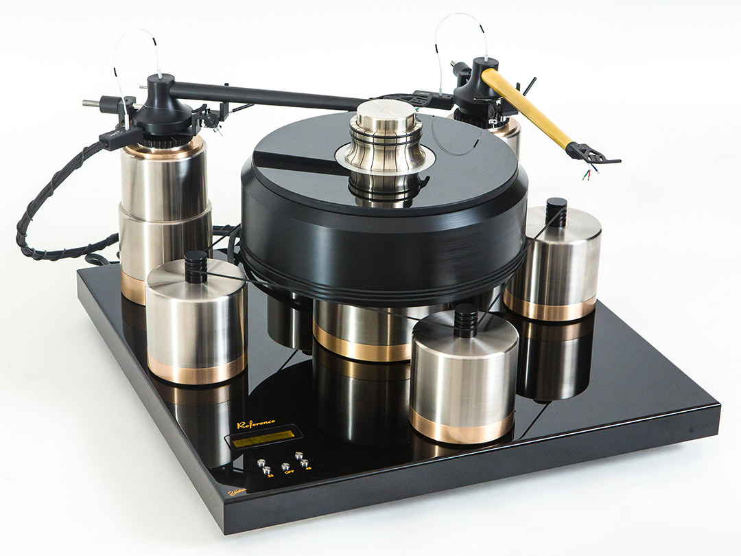 J.Sikora Reference turntable with KV12 tonearm in yellow
