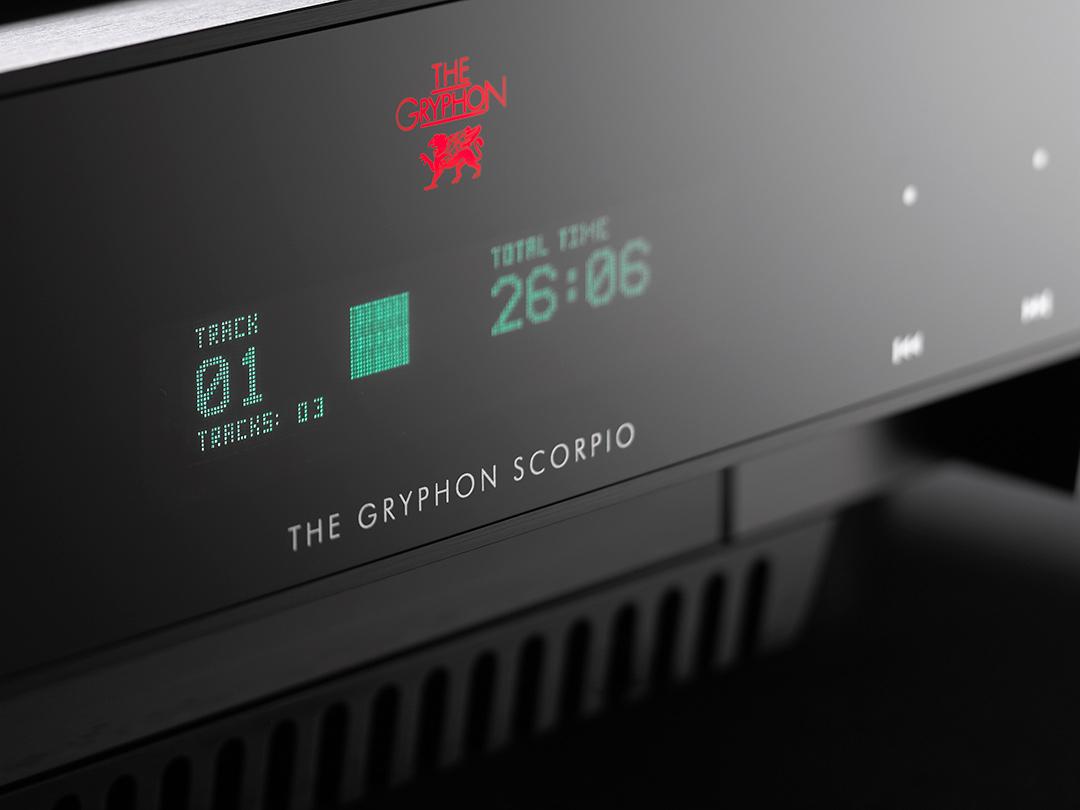 gryphon scorpio s cd player display closeup