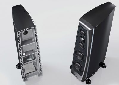 rockport lyra loudspeakers skeleton