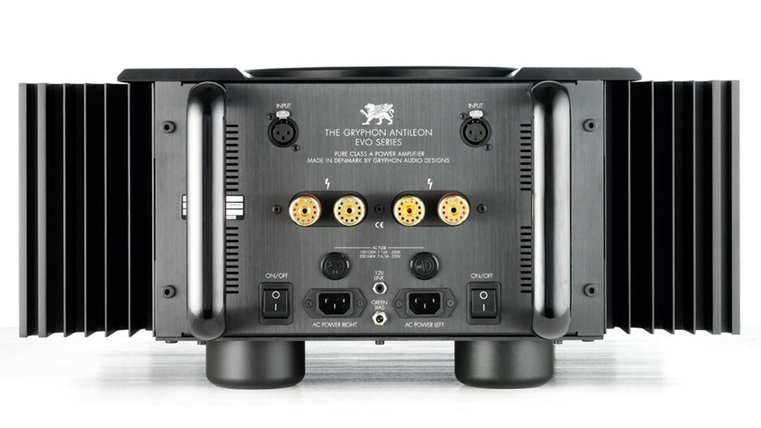 the gryphon antileon evo stereo amplifier back connections