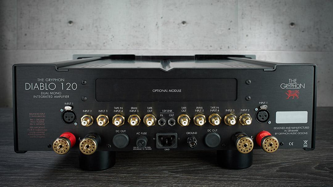 washington dc virginia maryland east coast Gryphon Audio Diablo 120 integrated amplifier dealer back
